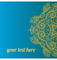 Ornate frame with sample text Azure vector