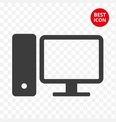 personal computer icon fashionable design idea vector image