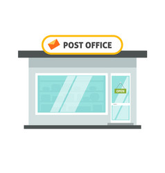 Post office isolated building on white background vector
