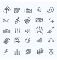 recording media icon set vector image