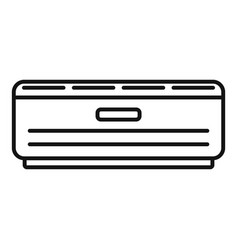 Room air conditioner icon outline style vector