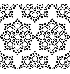 Seamless pattern aboriginal dot painting vector