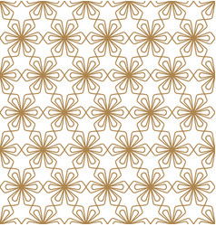 seamless pattern kumiko in golden color vector image