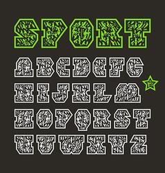 Serif geometric sport font vector