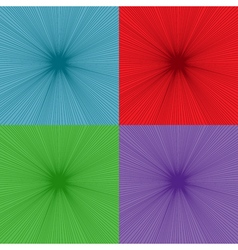 set comic explosion backgrounds vector image
