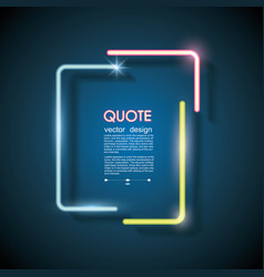 Set neon chat bubbles or quote frames lighting vector