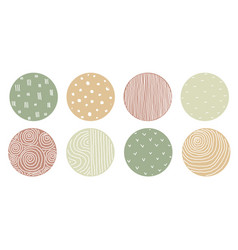 Set round abstract colorful backgrounds vector