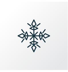 snow icon line symbol premium quality isolated vector image