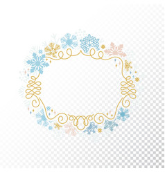snowflake frame transparent background christmas vector image