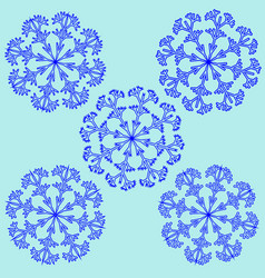 snowflake sign set 2312 vector image