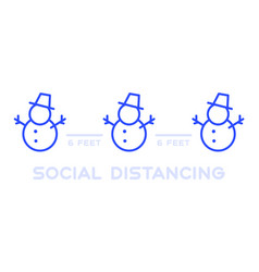 social distancing at christmas event keep distanc vector image