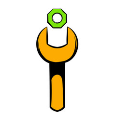 spanner and nut icon icon cartoon vector image