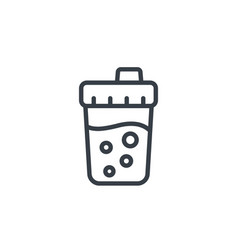 sport shaker linear icon vector image