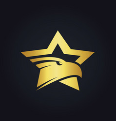 star eagle gold logo vector image