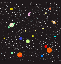 stars and planets vector image