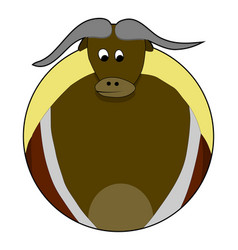 sticker bull icon vector image