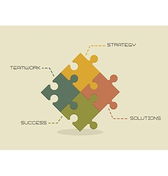 Strategy solutions succes and teamwork conceptual vector