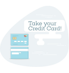 take your credit card concept in line art style vector image