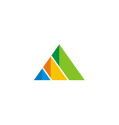 Triangle pyramid colorful business logo vector
