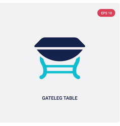 two color gateleg table icon from furniture and vector image