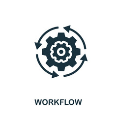 workflow icon symbol creative sign from crm icons vector image