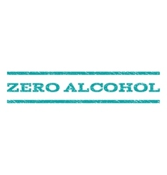 Zero Alcohol Watermark Stamp vector