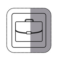 figure emblem suitcase icon vector image