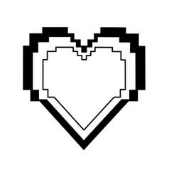 pixel cartoon heart icon image vector image vector image