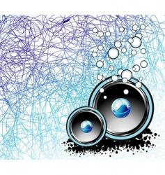 Underwater music background vector