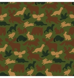 wild forest animals vector image vector image