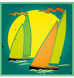 yachting vector image vector image