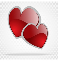 background day valentine on white vector image vector image