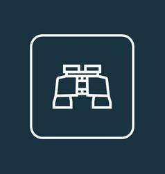 binoculars outline symbol premium quality vector image