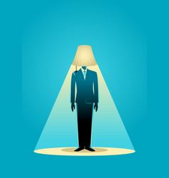 lamp head businessman vector image