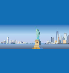 new york-city silhouette vector image