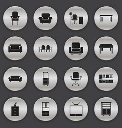 set of 16 editable home icons includes symbols vector image