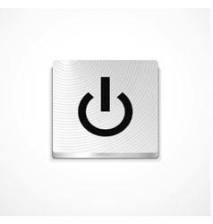 silver power button vector image