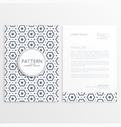 business letterhead design with pattern background vector image
