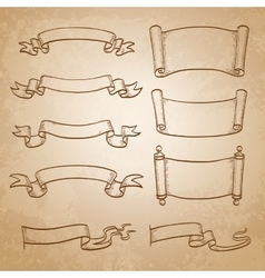 Sketch set of banners vector image