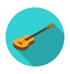 Acoustic guitar icon in flat style isolated on vector