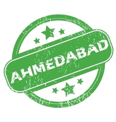 Ahmedabad green stamp vector