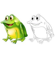 Animal outline for frog sitting vector