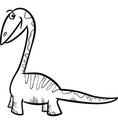 apatosaurus dinosaur coloring page vector image