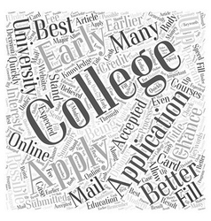 Applying To Colleges And Universities Word Cloud vector