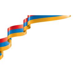 Armenia flag on a white vector