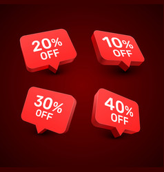 Banner 20 10 30 40 off with share discount vector