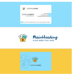 beautiful photography logo and business card vector image