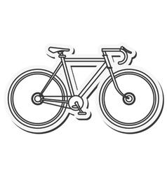 Bike healthy lifestyle gym design vector