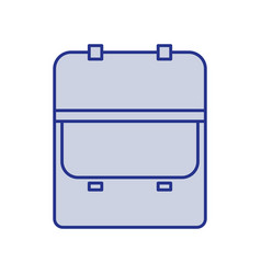 Blue silhouette of opened executive briefcase icon vector