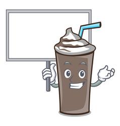 Bring board ice chocolate character cartoon vector